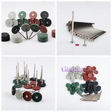 100 Mixed Dental Lab Beauty Silicone Rubber Polishing Wheels+20 Mandrel Shank