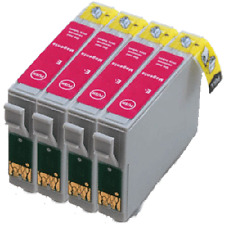 4 cartuchos de Magenta D78 D92 D120 DX4000 5000 6000 DX7400 T0713 Compatible Ink