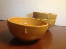 """Vintage Varages Pottery France """"Cigale"""" (Bumble Bee) Cereal Bowls, Two Bowls"""
