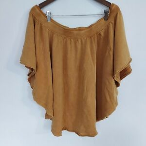 Free People Womens Slouchy Off Shoulder Cotton Top Versatile Size Small