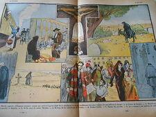 Croquis d'Espagne Marchand d'eau Burgos Avila Le Sereno dessin Print 1932