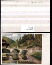 253941,Künstler AK Hugo Darnaut Margarethenbrücke Brücke in d. Walster b. Mariaz