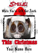 Lento Loris nnc122 humorístico tarjeta de Navidad Navidad A5 tarjeta de saludos Personalizados