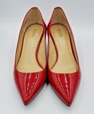 Michael Kors Claire Satin Bright Red Pumps Shoes Heels size 8. 《11E》