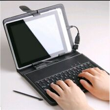 2 in 1 Tablet Keyboard with Touchpad and Leather Case