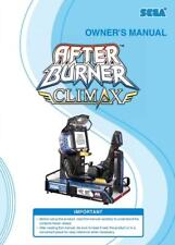 After Burner Climax Dlx Game Operation/Service/Repair Manual Arcade Sega Xx