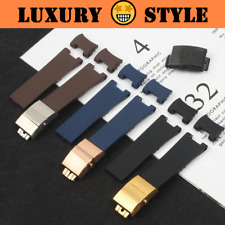 PLAIN 22mm Soft Natural Rubber Watch Band Strap For Ulysse Nardin Diver Marine