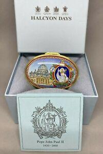 "Halcyon Days Enamels Trinket Box ""Pope John Paul II"" Ltd Edition 56/200 - 2005"