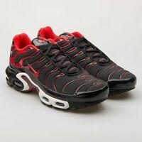 Mens Nike Air Max Plus Jacquard Tuned 1 Tn Trainers Black University Red White