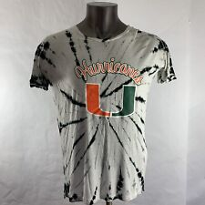 Miami Hurricanes Three Squad L Large Tshirt Tees Short Sleeve Cuffed Tie Dye Men