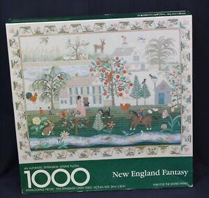 Vtg Springbok Jigsaw Puzzle New England Fantasy Hallmark 1000 pc Lucy Harmon