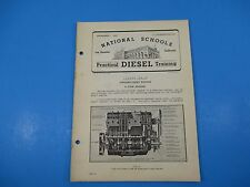 1940's Diesel Training National Schools Lesson #21 Straight 8 Engines 20pgs M904