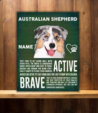 PERSONALISED AUSTRALIAN SHEPHERD DOG BREED VINTAGE METAL SIGN RS65