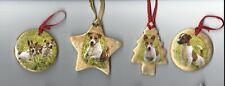 1X Jack Russell Terrier Dog Ceramic Hand Made Xmas Decoration -New- Must L@K!