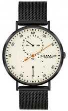 Coach   Charles Voor Heren Zwarte Mesh Armband   14602480 Horloge