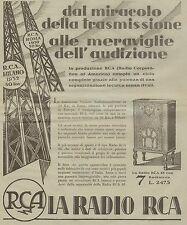 J0067 Radio RCA 48 con 7 Radiotron - Pubblicità grande formato del 1931 - Old ad