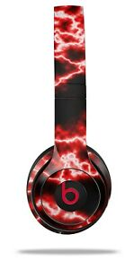 Skin Beats Solo 2 3 Electrify Red Wireless Headphones NOT INCLUDED