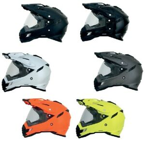 2021 AFX FX-41 Dual Sport Full Face Motorcycle Helmet Dual Visor Pick Size/Color