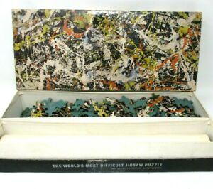 Vintage Springbok Jackson Pollock Puzzle Convergence with art print