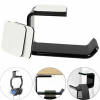 Headphone Stand Hanger Hook Tape Under Desk Dual Headset Mount Holder Black Hot