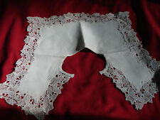 Vintage BUTTERFLY Lace Collar Bertha EC Edwardian 20s NOS Antique Huck Cloth