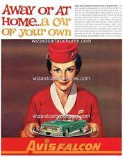 1963 FORD XL FALCON & AVIS A3 POSTER AD SALES BROCHURE ADVERTISEMENT ADVERT