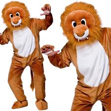 Adult Leo Lion Mascot Costume Unisex Jungle Animal Big Head Fancy Dress Outfit