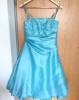 Ronald Joyce Ladies Size 10 Wedding Dress Prom Jewel Embellished turquoise