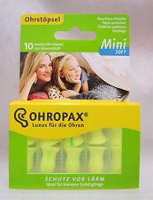OHROPAX Mini Soft 10 weiche Ohrstöpsel aus Schaumstoff PZN: 10795383