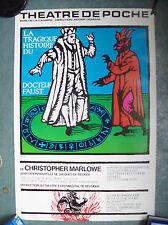 belle affiche théatre poche Bruxelles Jacques Richez 1979 docteur Faust diable