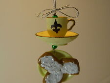 New Orleans Christmas ORNAMENT Coffee Beignets Donut Gift Cafe Du Monde de