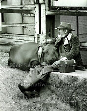 Hippo Buddy, Must See! Signed Photo - Bob Runyon - B/W, 11x14, unframed