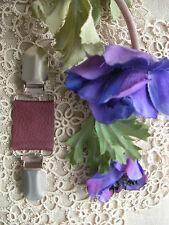 Cuir Robe Clip ~ Cardigan/écharpe Fermoir ~ Bourgogne mat ~ 70 couleur + Mariée Magnolia