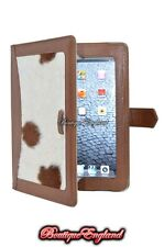 iPAD 2 3 & 4 TAN & COW SKIN FUR Luxury Real Genuine Leather Cover Case Stand