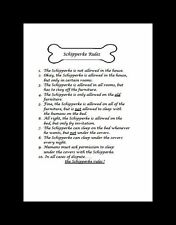 "Schipperke ""Rules"" Dog Art Print - Matted"