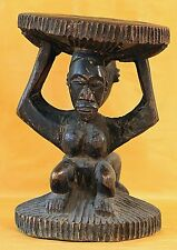 LUBA STOOL - DOUBLE SIDED - FROM CONGO CENTRAL  AFRICA- WOODEN