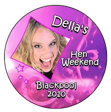 18 X HEN NIGHT PERSONALISED - BADGES WITH PHOTO/DATE
