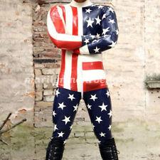 100% Latex Bodysuit Rubber Gummi Racing Handsome Suit Catsuit Ganzanzug  XXS-XXL