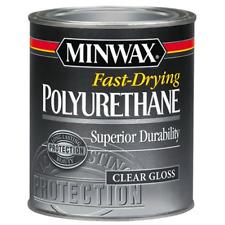 Minwax 230004444 Fast Drying Polyurethane Gloss, 1/2 pint Half Pint Regular