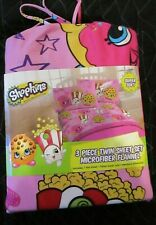 New Nwt Shopkins 3 Piece Twin Sheets Microfiber Flannel Sheets