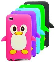 iPod Touch 4TH Gen Generation 4 4G Cute Penguin Silicone Soft Phone Case Cover
