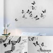18pcs 3D Butterfly Wall Stickers Black White Mixed Art Home Decorations Decor T5