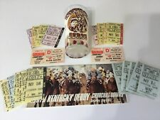 Kentucky Derby Glass 1977 With Program Clubhouse Tickets betting Tickets