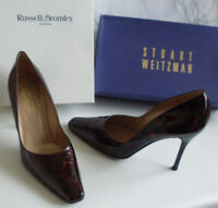 BROMLEY WEITZMAN Tortoise Pointed Toe Pump Heels Court Shoes Size EU 39 UK 6