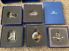 Swarovski Scs Lion Head,Horse,Peacock,Wild Flower Orchid Membership Gift & Cloth