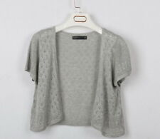 Ladies Knitted Crochet Shrug Short Sleeve Bolero Women  Cardigan Tops Cover-Up