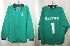 Netherlands #1 Maassen 1996/1997/1998 Goalkeeper Size 2XL Holland shirt jersey