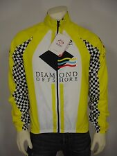 NWT PRIMAL DIAMOND OFFSHORE BICYCLE CYCLING ZIP FRONT WIND JACKET MEN'S L