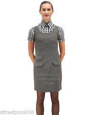 Relco Womens Green Tonic Two Tone Pinafore Dress 60s Mod Skin Ska Skinbryd