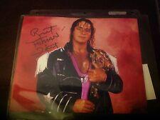 Bret The Hitman Hart Autographed 8x10  WWE WWF